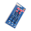 5 Pc Rubber Handle Bit Holder Screwdriver Set With Blister Pack