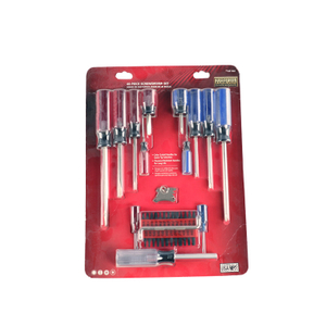 40 Pc Transparent Handle Pvc Handle Or Acetate Handle Or Color Line Handle Screwdriver Set With Blister Pack